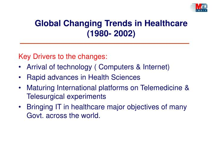 Global changing trends in healthcare 1980 2002