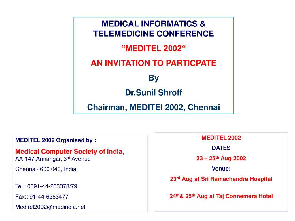 MEDICAL INFORMATICS & TELEMEDICINE CONFERENCE