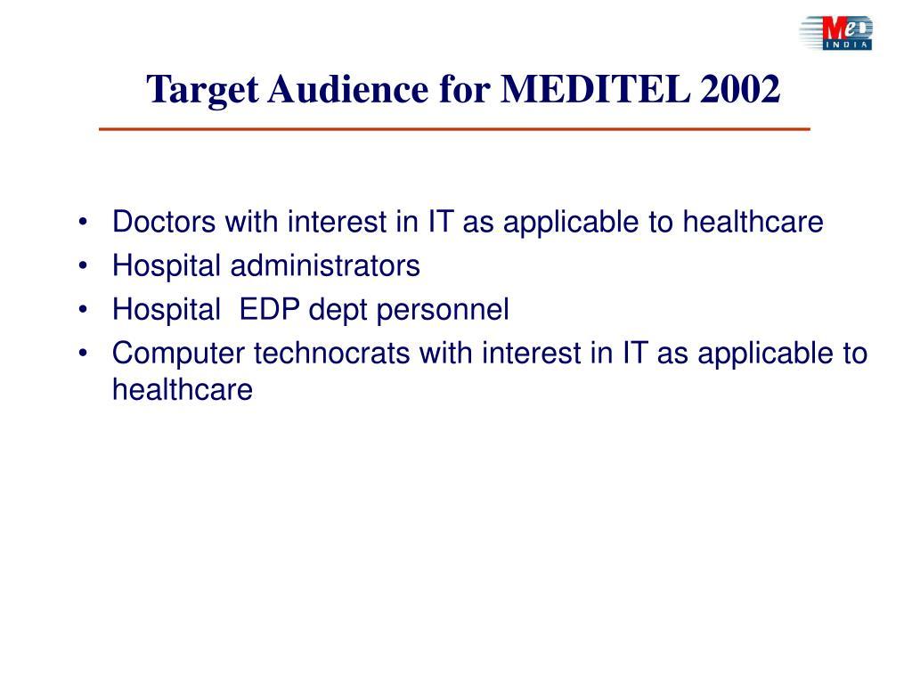 Target Audience for MEDITEL 2002
