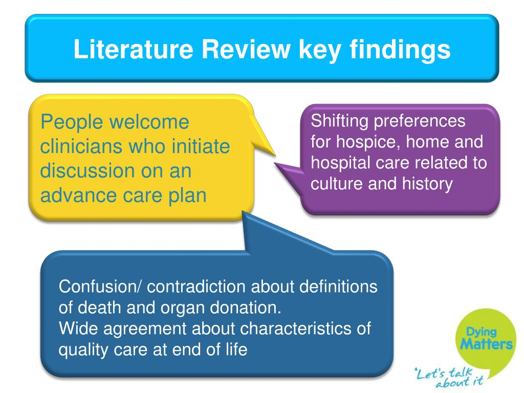 Literature Review key findings
