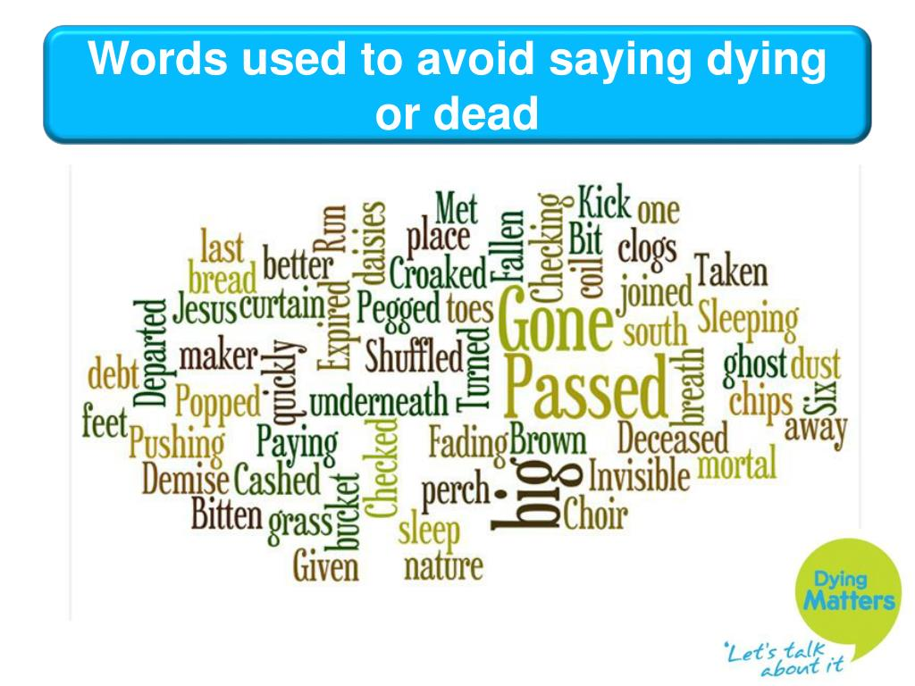 Words used to avoid saying dying or dead