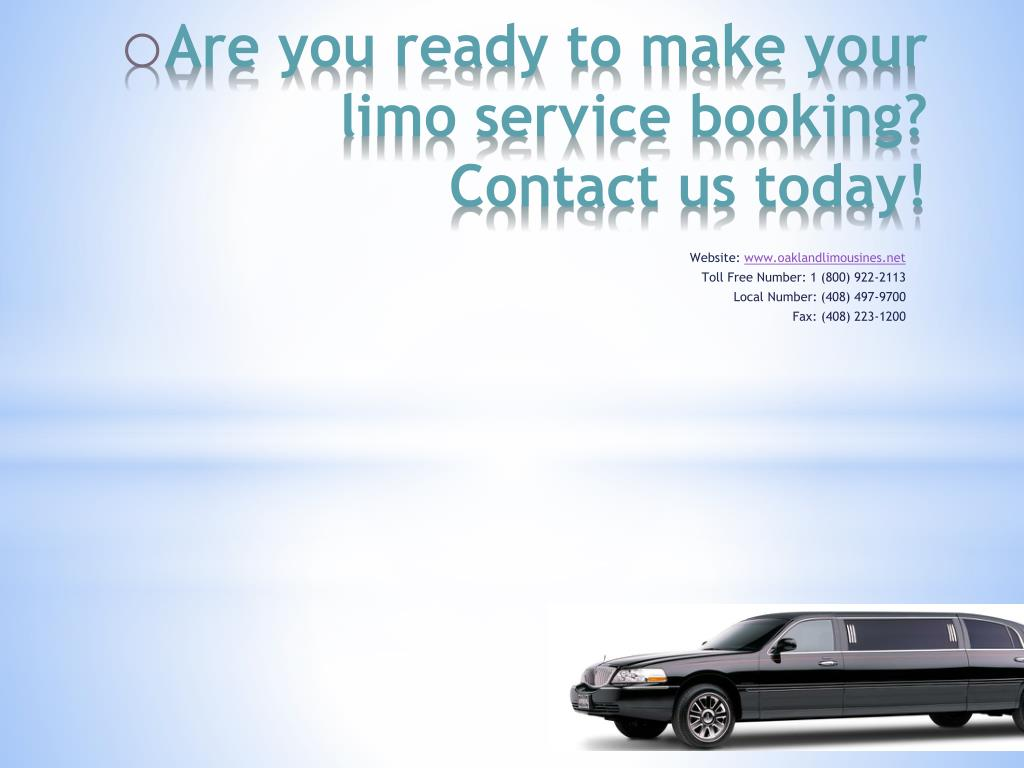 Are you ready to make your limo service booking? Contact us today!