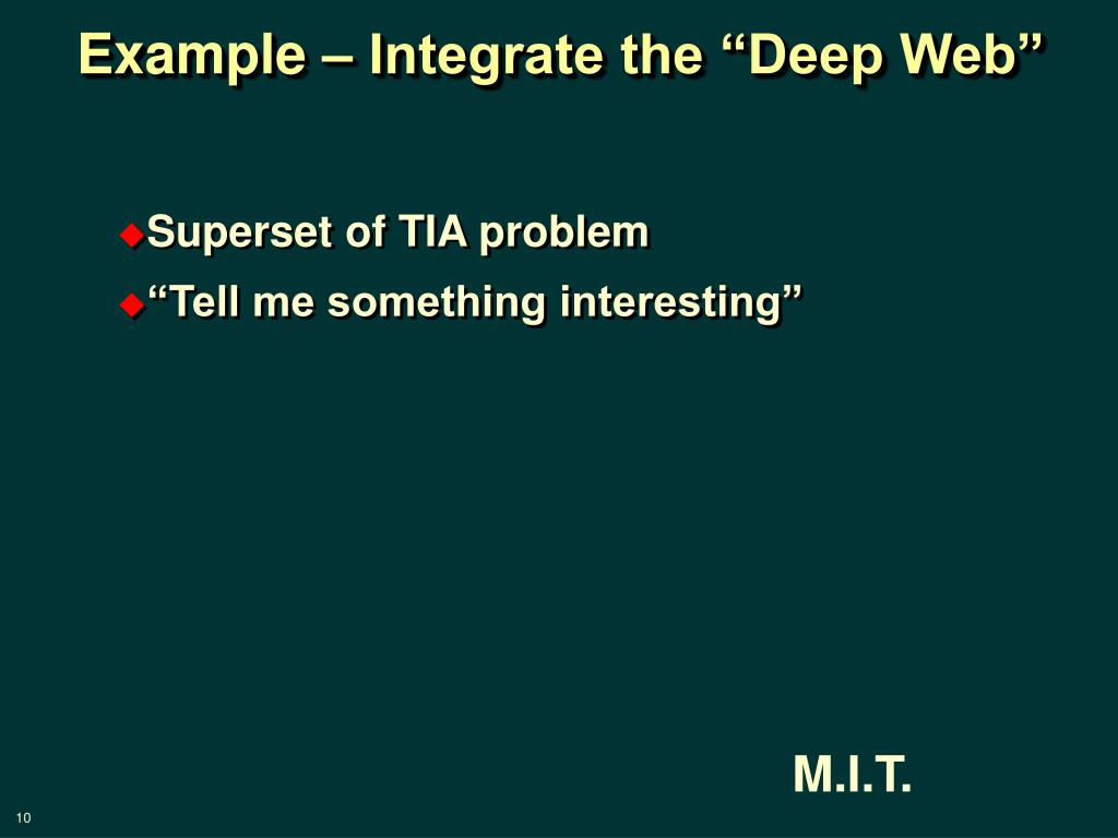 """Example – Integrate the """"Deep Web"""""""