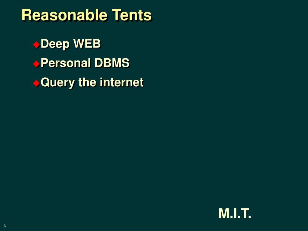 Reasonable Tents