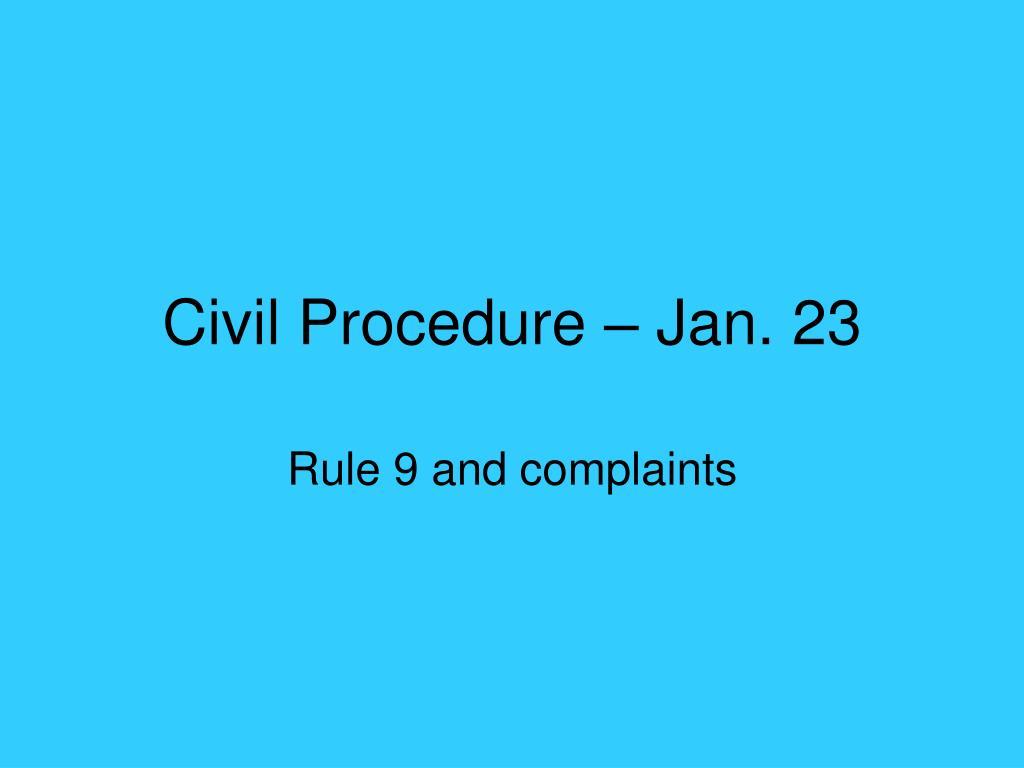 civil procedure jan 23