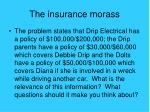 the insurance morass
