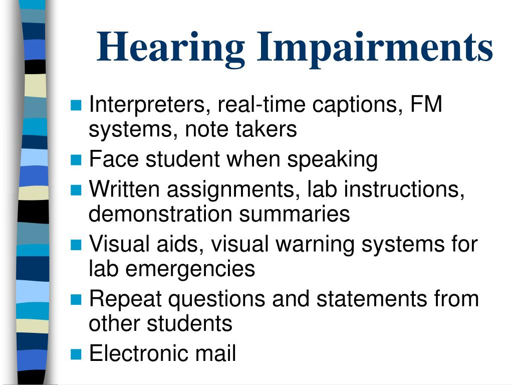 Hearing Impairments