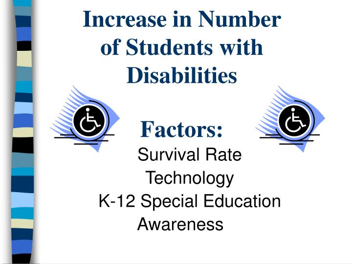 Increase in number of students with disabilities factors