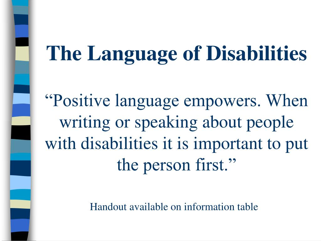 The Language of Disabilities