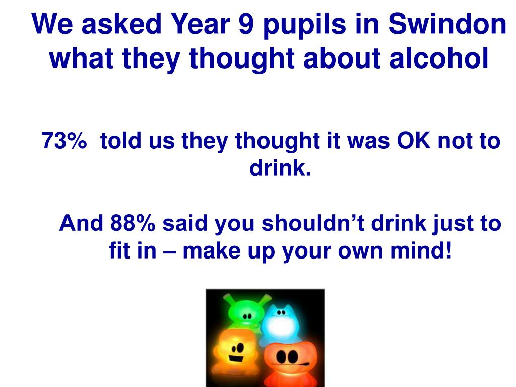 We asked Year 9 pupils in Swindon what they thought about alcohol