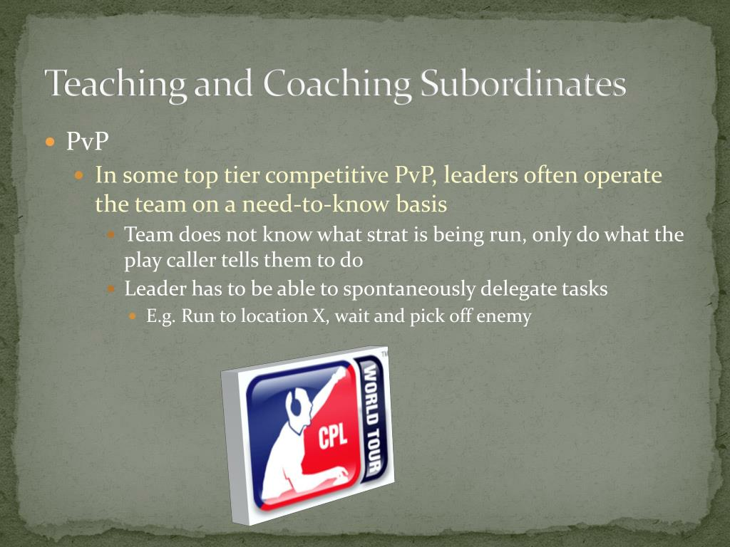Teaching and Coaching Subordinates