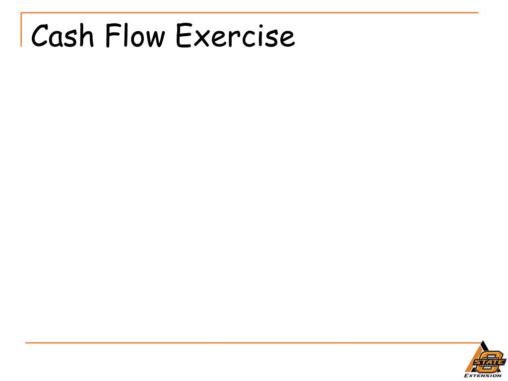 Cash Flow Exercise