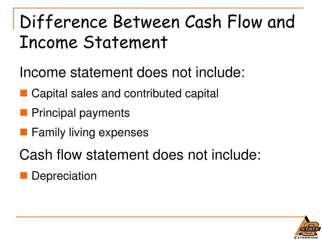 Difference Between Cash Flow and Income Statement