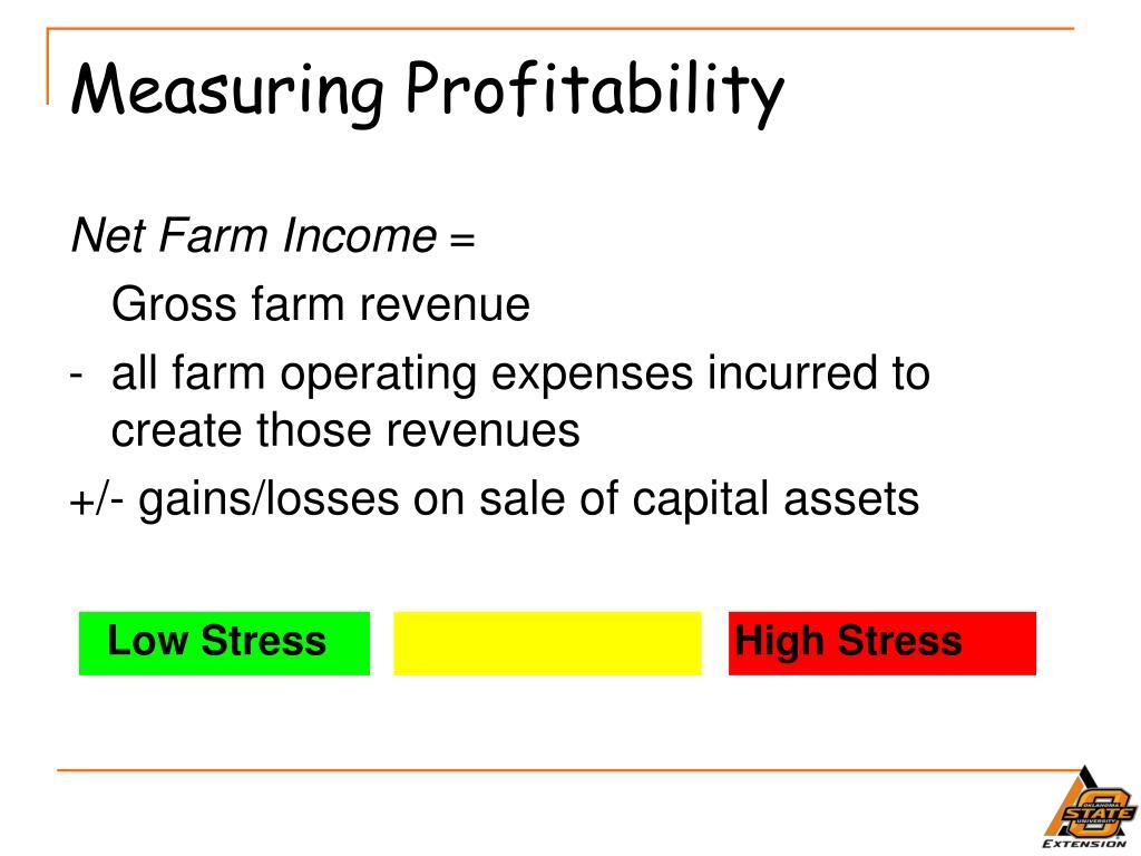 Measuring Profitability