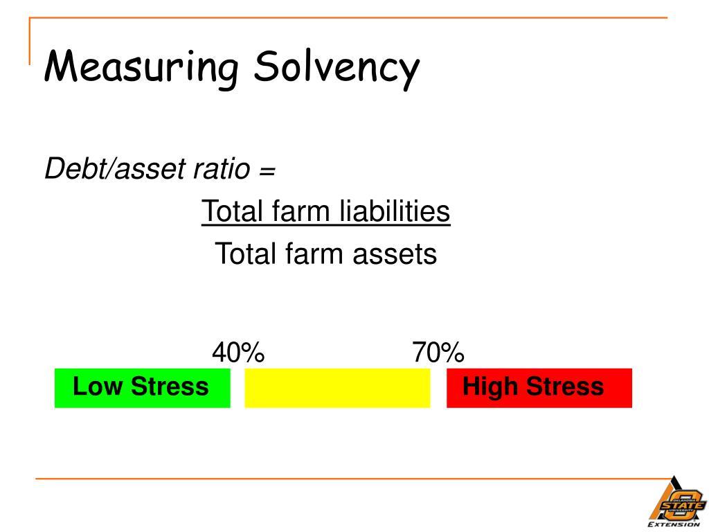 Measuring Solvency