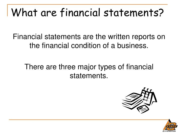 What are financial statements