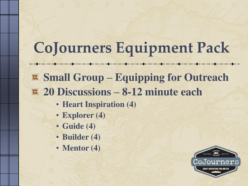 CoJourners Equipment Pack