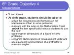 6 th grade objective 4 measurement