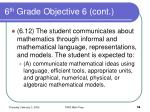 6 th grade objective 6 cont58