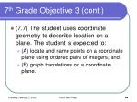 7 th grade objective 3 cont