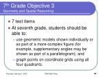 7 th grade objective 3 geometry and spatial reasoning
