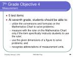 7 th grade objective 4 measurement