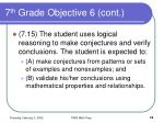7 th grade objective 6 cont74
