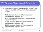 7 th grade objective 6 example
