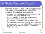 8 th grade objective 1 cont