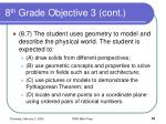 8 th grade objective 3 cont