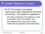 8 th grade objective 6 cont90