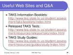 useful web sites and q a