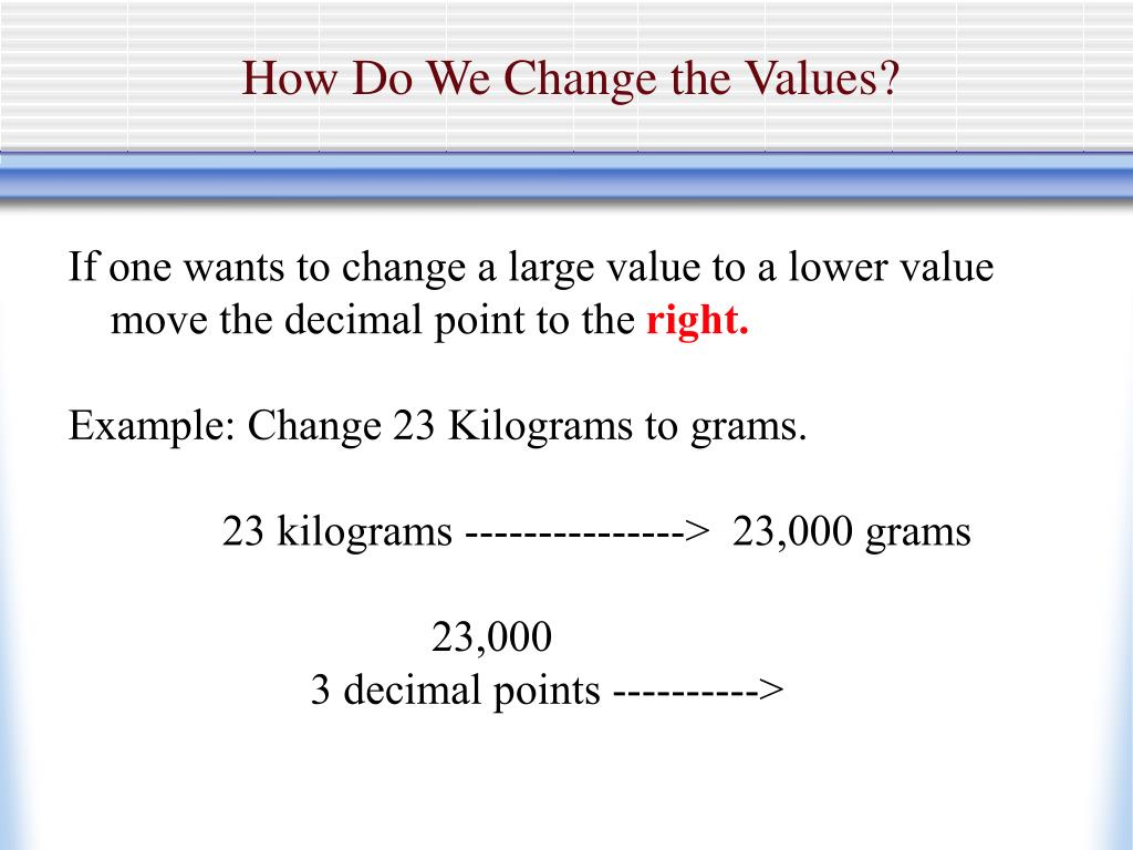 How Do We Change the Values?