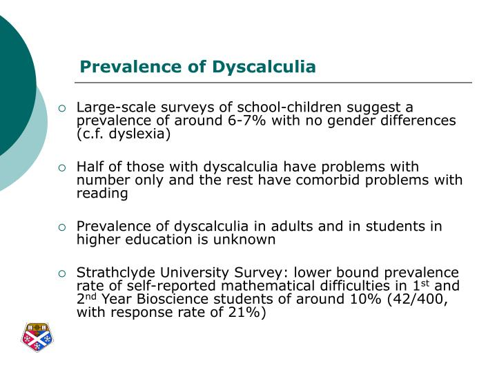 Realize, told... Dyscalculia in adults