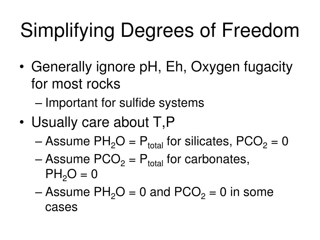 Simplifying Degrees of Freedom