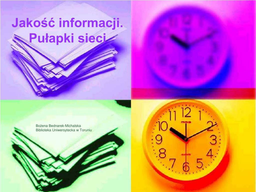 Jakość informacji.