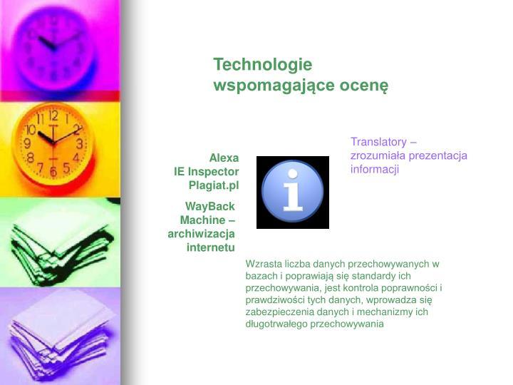 Technologie wspomagające ocenę