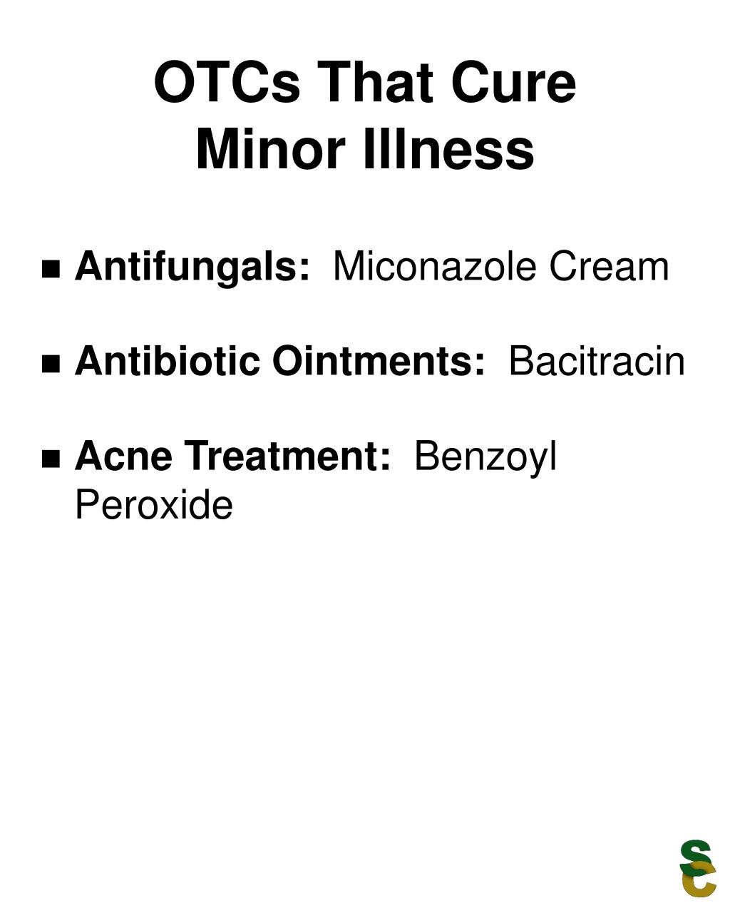 OTCs That Cure Minor Illness