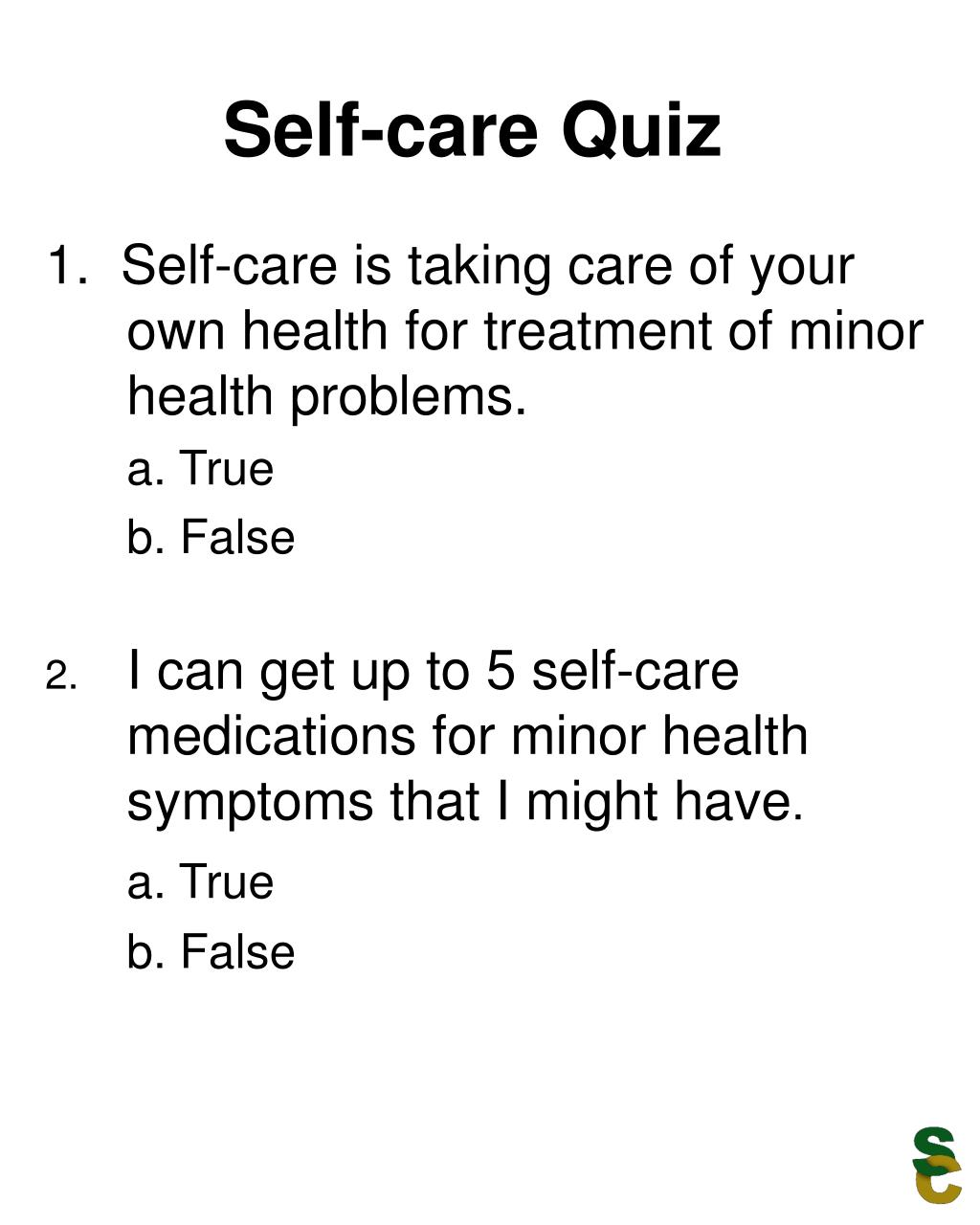 Self-care Quiz
