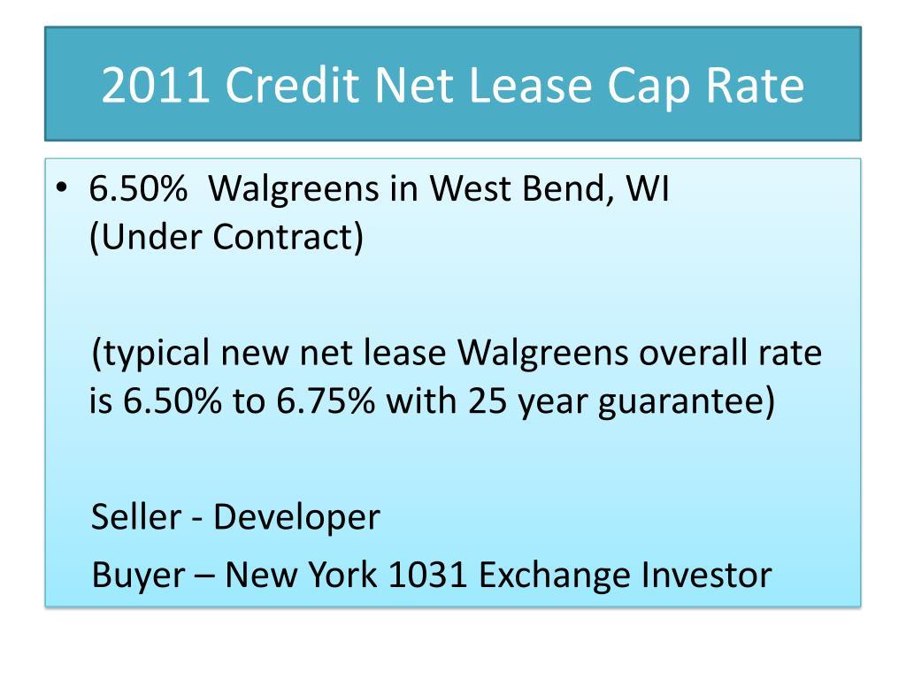 2011 Credit Net Lease Cap Rate