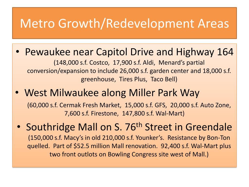 Metro Growth/Redevelopment Areas