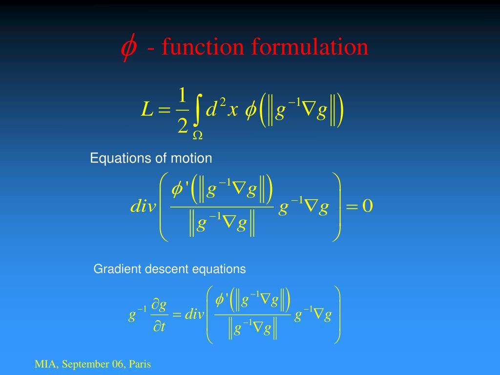 - function formulation