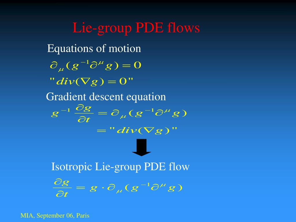 Lie-group PDE flows