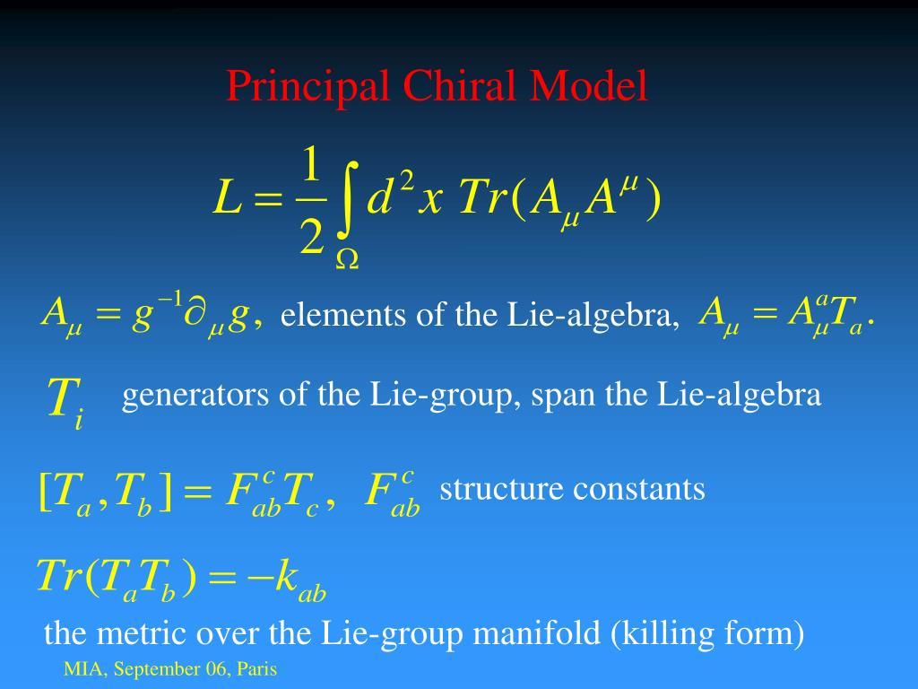 Principal Chiral Model