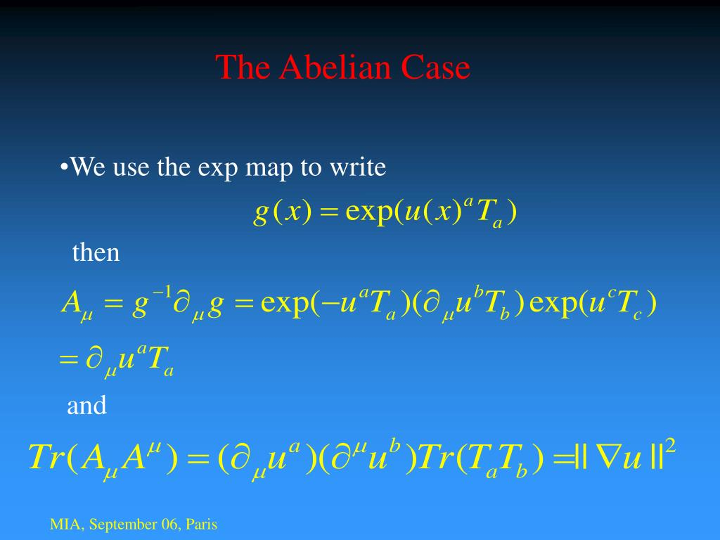 The Abelian Case
