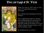 three and hugh of st victor