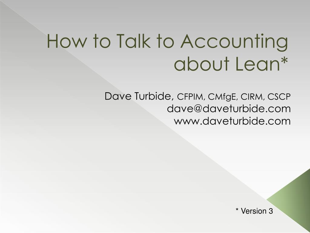 How to Talk to Accounting