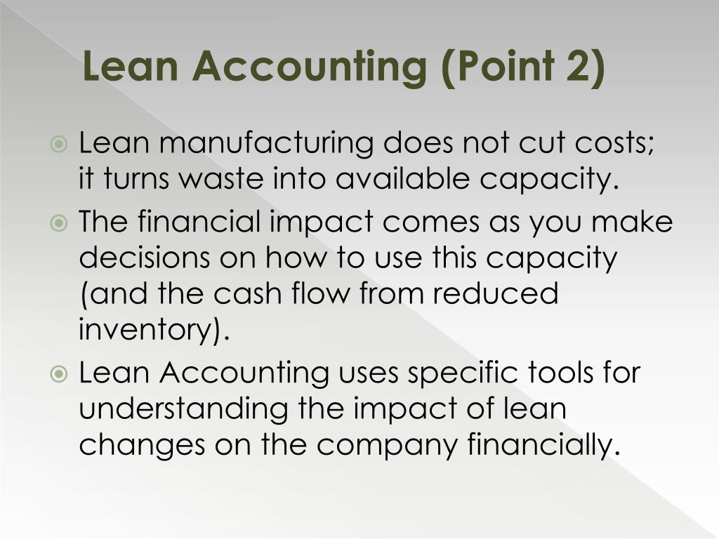 Lean Accounting (Point 2)