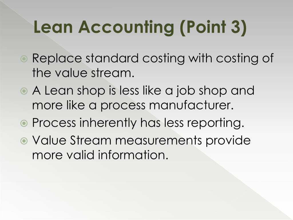 Lean Accounting (Point 3)