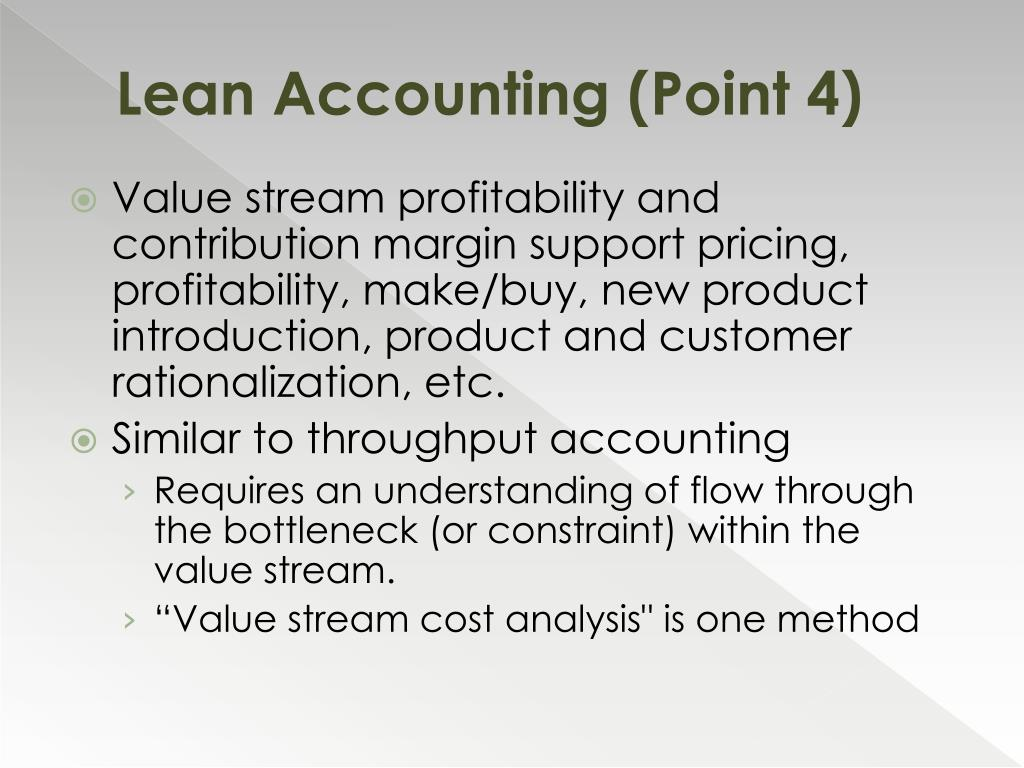 Lean Accounting (Point 4)